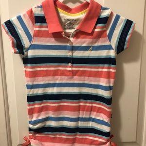 Nautica girl's striped shirt, collared, NWOT. Sz8